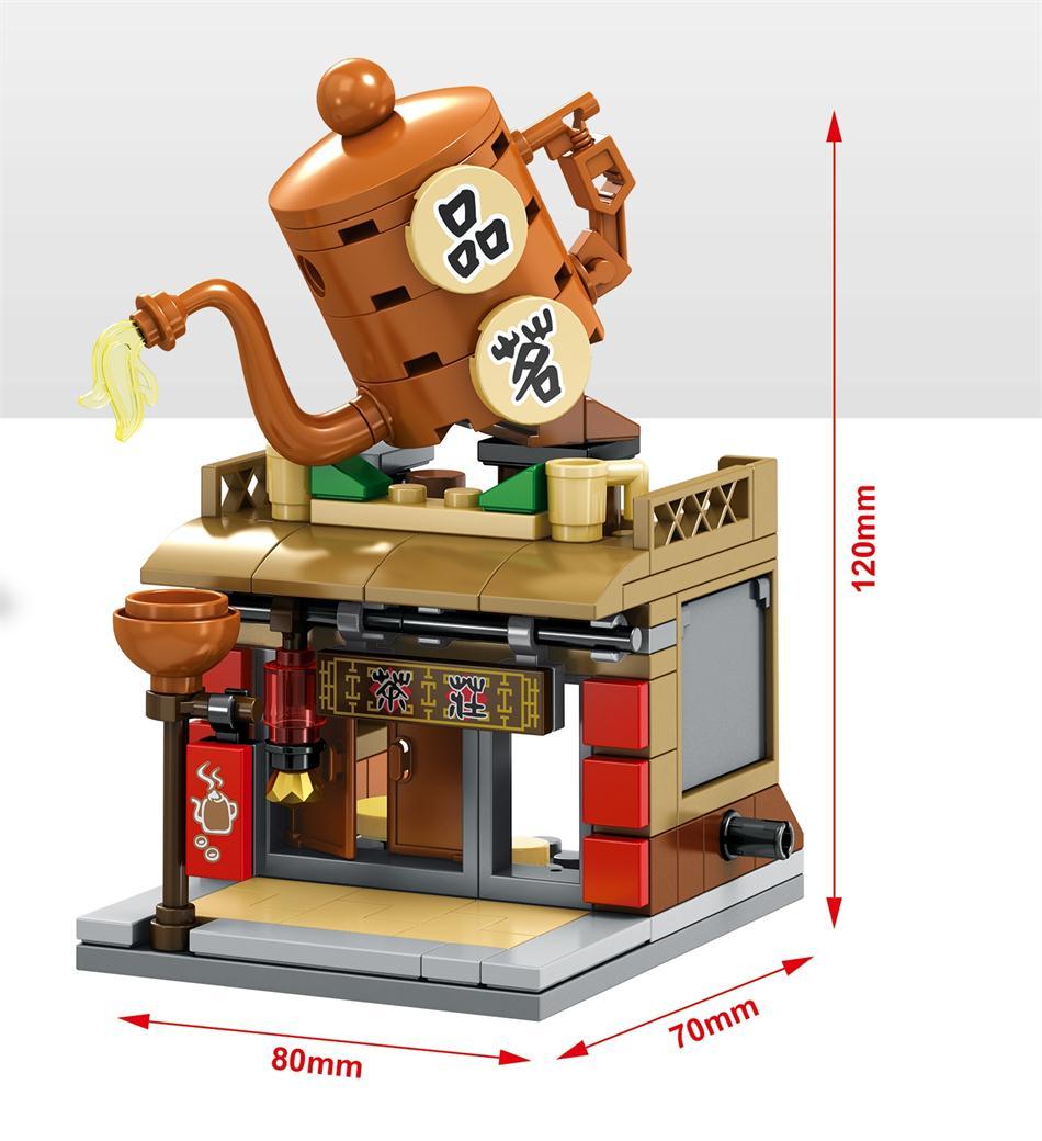 Blocos loja de rua estilo chinês Occassion : Education Toy, Home Decoration, Kids Gifts Etc