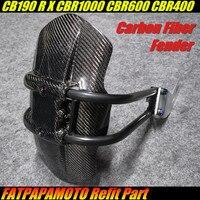 Для HONDA CB190R CB190X CBR1000RR CBR600RR CBR400RR Аксессуары для мотоциклов 100% углеродного волокна задний брызговик
