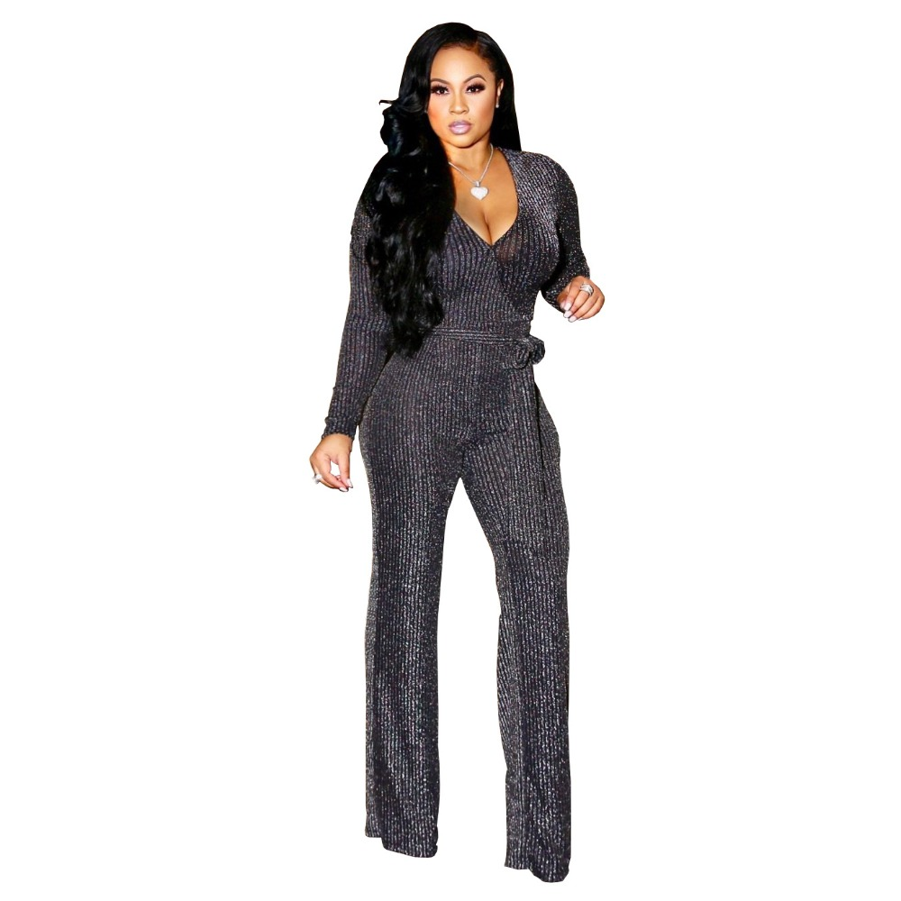 8782b627af Autumn lace Womens Jumpsuit 2019 Casual Mesh Bodycon Overalls body Woman  red black Full Bodysuit Long Sleeve Sexy Jumpsuit