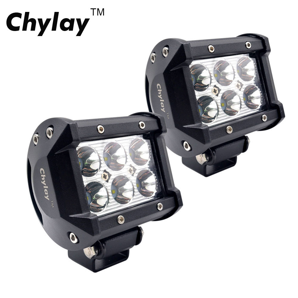 2pcs 4inch 18W Spot LED light bar Driving Fog Lights bulb 4x4 Led Work Light for offroad, Truck, SUV, Jeep Spot Driving Lamp