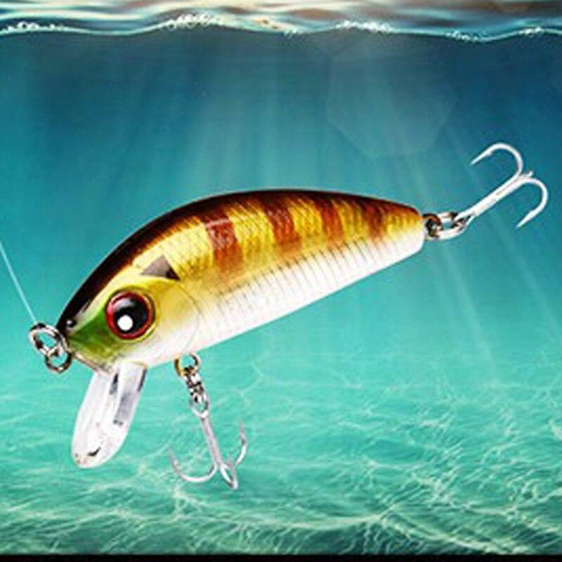 Image 2 - 1pcs 4.5cm 4.1g mini Minnow Hard Bait Fishing Bait Aritificial  Japan Hard bait Bait Trout bass carp fishing-in Fishing Lures from Sports & Entertainment