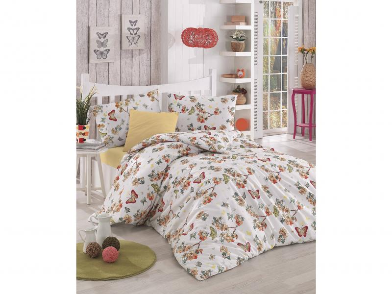 Bedding Set double-euro ALTINBASAK, BUTTERFLE, apricot apricot oil