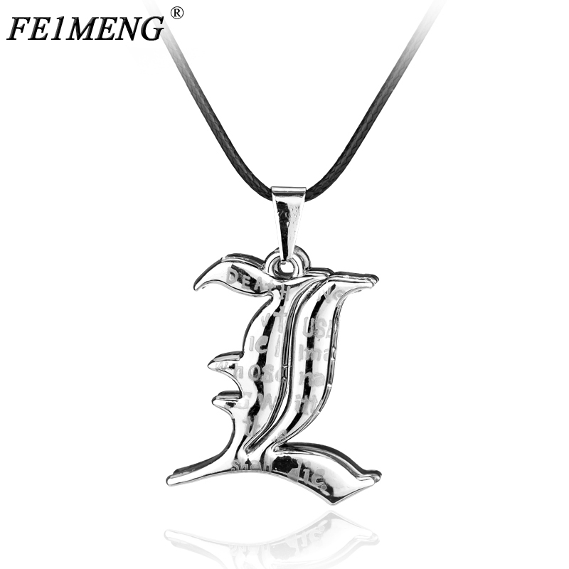 Popular Comic Death Note Double l Yagami Non-Mainstream Necklace Smart Anime Fashion Pen ...