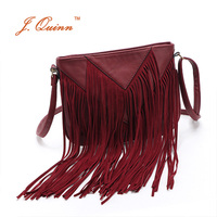 J Quinn 2016 New Autumn European Small Tasell PU Leather Thin Ladies Shoulder Messenger Bags Cross