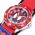 Cartoon Spiderman Watches Fashion Children Boys Kids Students Spider-Man Nylon Sports Watches Analog Wristwatch