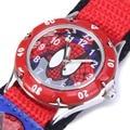 Cartoon Spiderman Watches Fashion Children Boys Kids Students Spider-Man Nylon Sports Watches Analog Wristwatch
