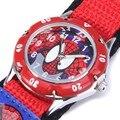 Spiderman Niños Niños Niños Estudiantes de Relojes de Moda de dibujos animados de Spider-Man de Nylon Deportes Relojes Analógico Reloj de pulsera