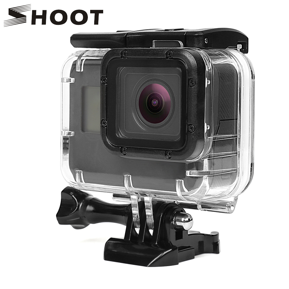 SHOOT 40M Underwater Waterproof Case for GoPro Hero 5 Black Go Pro Hero 6 Camera Diving Housing Mount for GoPro Hero 6 Accessory