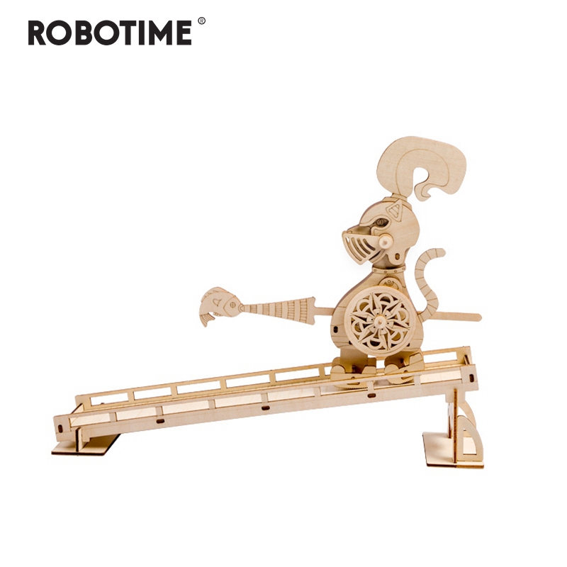 Robotime Children Adult Interesting Guard Tom Stress Relief Toy DIY Wooden Novelty Gag Toy Sports & Entertainment LP401