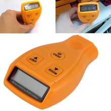 Portable Digital Automotive Coating Thickness Gauge Auto off LCD Display Measuring Range 0-1.80mm/0-71.0 mil Measuring Tool