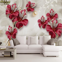 beibehang Jewelry Flowers wallpaper for walls 3 d photo mural wallpaper for Living Room TV Background papel de parede Wall paper