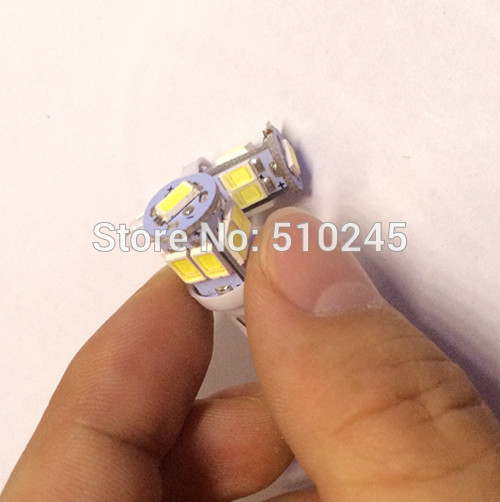 100x Free shipping Car Auto LED 194 W5W 9smd T10 9 led smd 5630 Wedge LED Light Bulb Lamp White