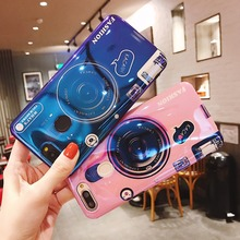 Leanonus Silicone Phone Case For Huawei Honor 8X Max 7X 7C Blue Ray Camera Stand Soft TPU Back Cover