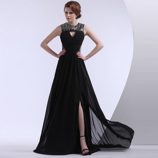 Black evening dress formal gown