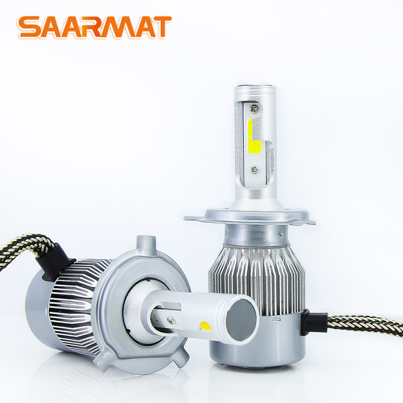 2X LED Car-styling H7 H1 H3 H4/HB2 H8/H11 9005/HB3 9006/HB4 H27/880/881 9012/HIR2 LED Headlight Bulb Head Lamp Fog Light 6000K