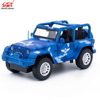 1 32 Scale Japan Toyota Land Cruiser SUV Police Ver Diecast Metal Pull Back Flashing