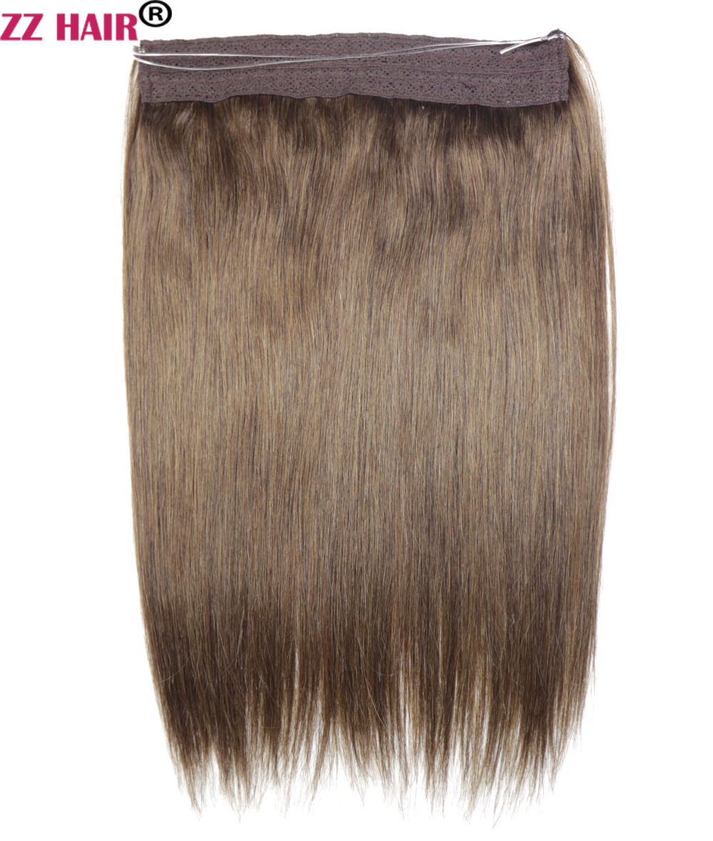 ZZHAIR 100g 16 28 100 Non remy Hair One Piece Set Flip in Human Hair Extensions