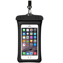 2019 Runseeda 6Inch Floating Airbag Swimming Bag Waterproof Mobile Phone Pouch Cell Phone Case For Swim Diving Surfing Beach Use
