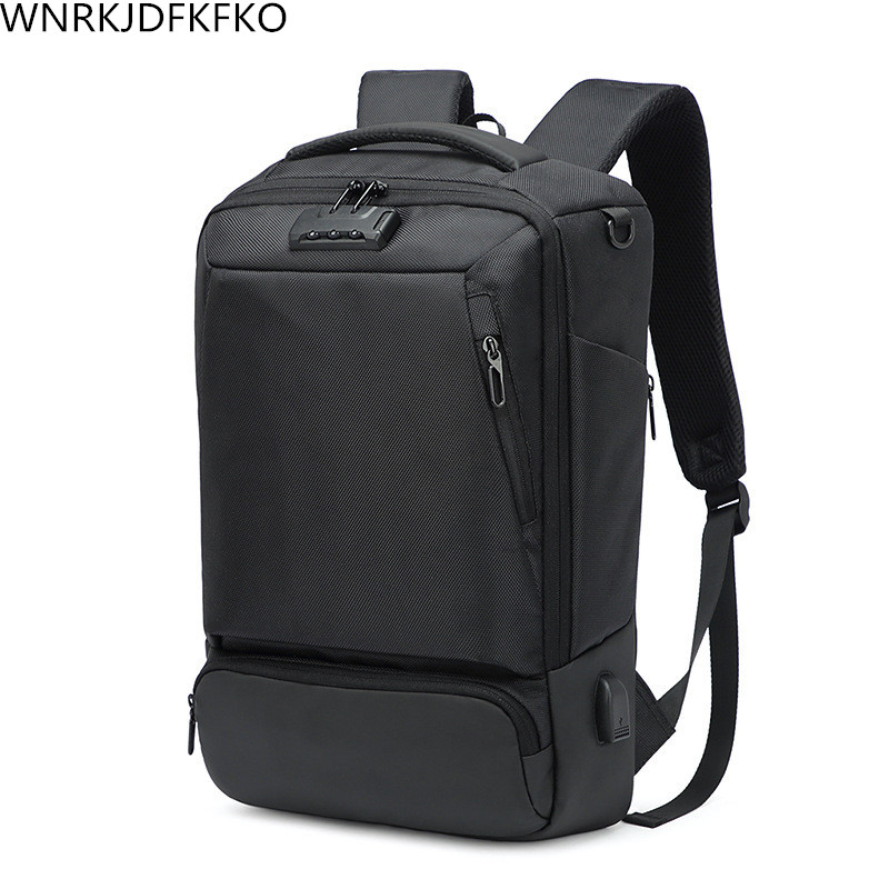 2018 New Men's Backpack Multi-Functional Business Anti-Theft Backpack USB Charging Backpack Men's Laptop Bag 15 6 17 inches man multi functional backpack external charging usb laptop backpack anti theft students waterproof travel bags