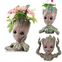 Cute Home Decoration Flowerpot Action Figures Groot Model Vase Toy Pen Pot PVC Hero Creative Guardians Galaxy Crafts Figurine