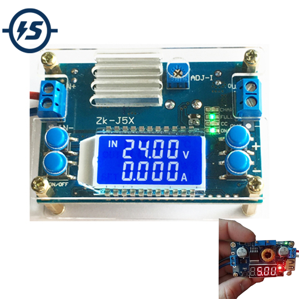 5A DC-DC Step-down Power Supply Converter Adjustable Module with LCD Display New