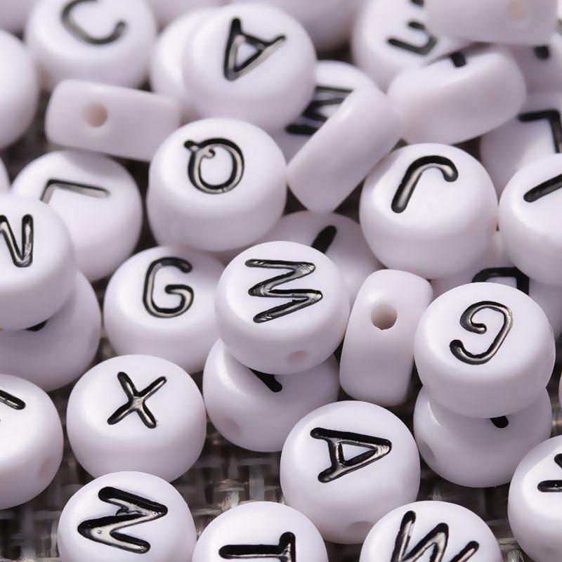 Good Quality 150 piece Lot Handmade DIY Round Alphabet Letter Acrylic font b Beads b font