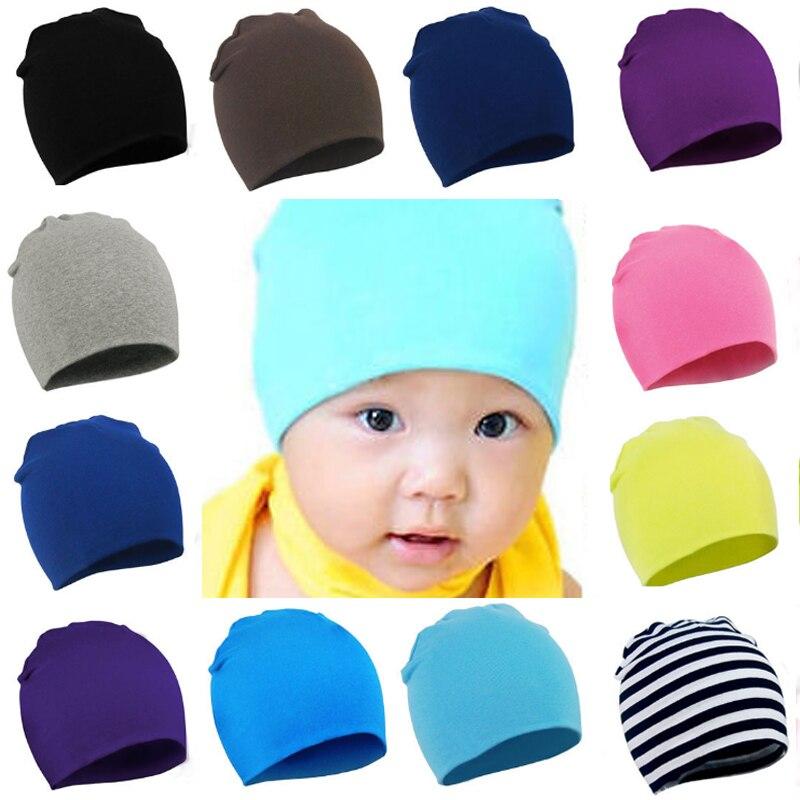 Fashion Unisex Children Caps Cotton Soft Cute Hat Winter Warm Solid Colors Skullies Beanies
