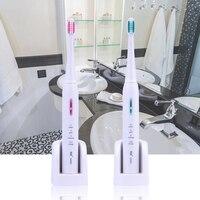 2 Pcs Sonic Elektrische Zahnbürste Drahtlose Wiederaufladbare Zahnbürste Wasserdichte Elektrische Zahnbürste mit 8 Austauschbare Pinsel Köpfe 0-in Elektrische Zahnbürsten aus Haushaltsgeräte bei