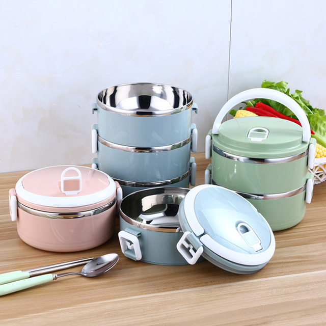 c6f7e24c94 Portable Stainless Steel Insulation Bento LunchBox Children's Tableware  Thermal Food Container Food Box Lunchbox