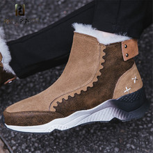 Prova Perfetto New Winter Warm With Wool Plush Fur Snow Boots Women Cow Suede Wedge Platform Boots For Female Snow Sneaker Boots