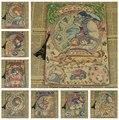 Урожай мультфильм аниме хаяо миядзаки тоторо унесенные призраками плакат кафе малыш домашнего декора ретро крафт-бумага стикер стены 42 x 30 см