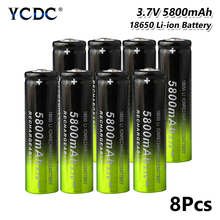 18650 Battery 5800mAh 3.7V Rechargeable Cell For electronic cigarette battery power high discharge