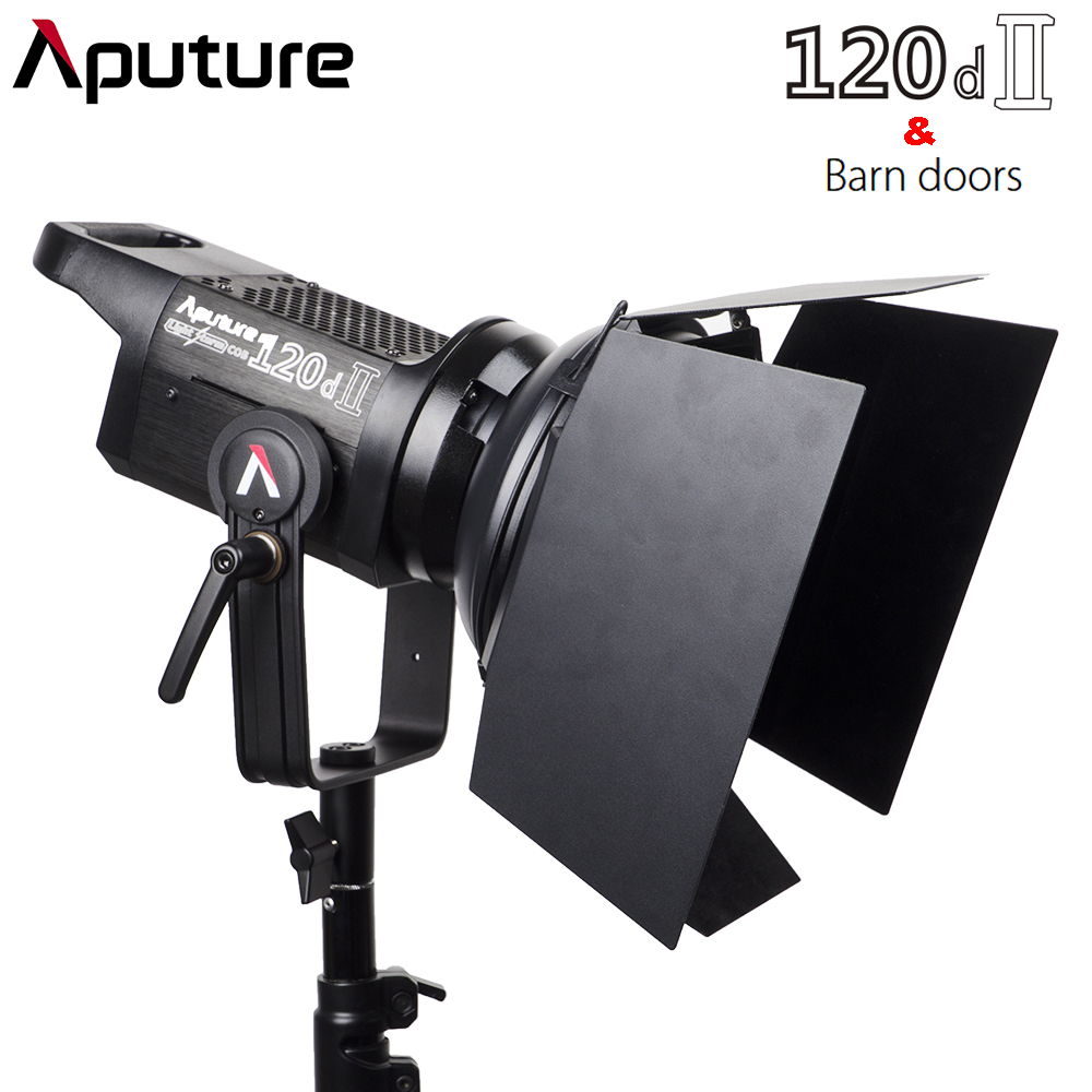 Aputure C120d II 120d II + Barn Door Kit 30 000Lux @ 0.5m 5 Lighting Effects CRI 96 TLCI 97 DMX Control 5500K Photographic Light|Photographic Lighting| |  - title=