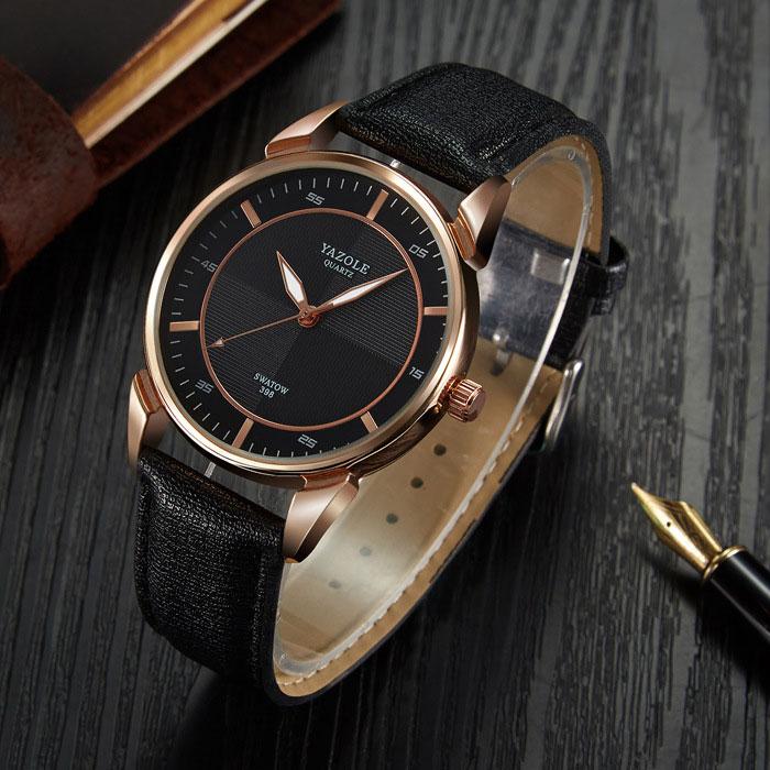 YAZOLE 2017 Wristwatch Male Clock Top Brand Luxury Famous Men Watches Business Quartz Watch For Men