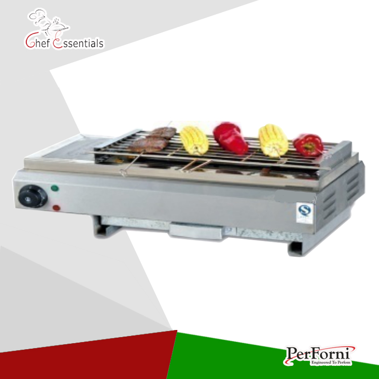 PKJG-GB580 Stainless steel   Gas Smokeless Barbecue Oven, for Commercial products sc 05 burner infrared barbecue somkeless barbecue grill bbq gas infrared girll machine stainless steel smokeless barbecue pits