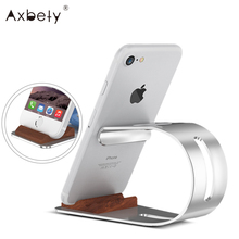 Universal Tablet Stand Holder For Apple Watch Aluminum Desktop Charging Dock Cradle For iPhone 6 7 6s Bracket Holder
