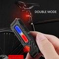 Перезаряжаемый 6 режимов 150 лм мини COB светодиодный велосипедный задний светильник Предупреждение задний светильник водонепроницаемый USB з...