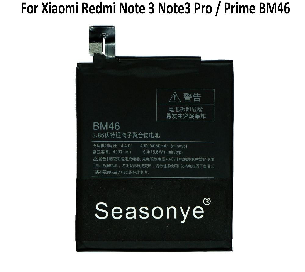 442a1d82d68 Seasonye 1x 4000mAh   15.4Wh BM46   BM 46 Mobile Phone Replacement Li  Polymer Battery For Xiaomi Redmi Note 3 Note3 Pro   Prime-in Mobile Phone  Batteries ...
