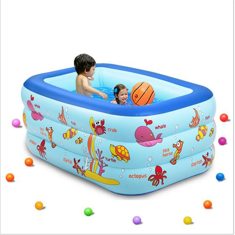 New 130X85X55cm Inflatable Swimming Pool Eco-friendly PVC Portable Foldable Child Baby Bath Tub thickened swimming pool folding eco friendly pvc transparent infant swimming pool children s playing game pool