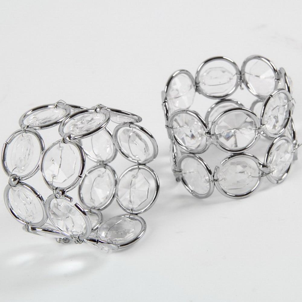 Bling Crystal Beaded Napkin Rings Silver Colour Napkin Holder ...