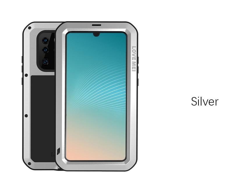 AMOUR MEI Métal Étanche étui pour Huawei P30 pro Antichoc Couverture Pour Huawei P30 Pro Cas En Aluminium Protection P30 pro - 3