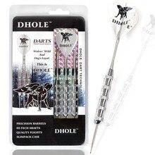 DHOLE Steel Tip Darts,24 Grams Dart Barrels,Dart Set With Black Shaft,DHOLE Flight