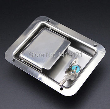 Cabinet Door Hardware   Free Shipping Stainless Steel Lock Door Hardware Locks Electric Cabinet Lock Fire Box Truck Tool Case Lock Car Pull