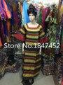 O novo roupas de Luxo bordado Bazin Africano roupas Popular Série de cera com rica senhora vestido Africano mulheres favorita