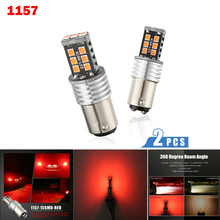 Nieuwe Richtingaanwijzers Licht 1157 P21W BA15S 2835 15LED Canbus Auto Reverse Backup Tail Remlicht Led Lampen Voor Auto S