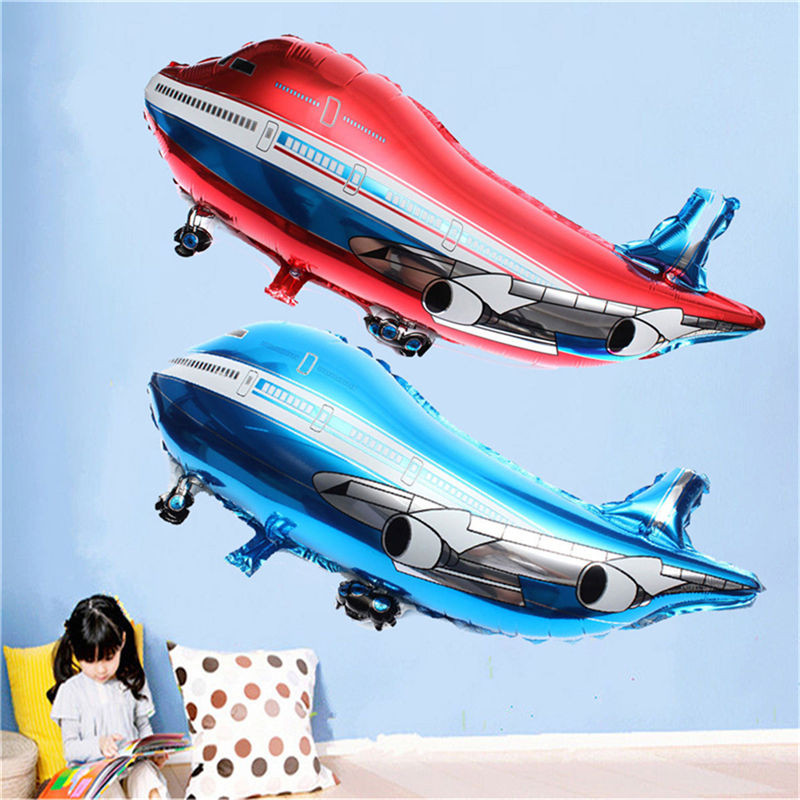 1PC 36*82cm Birthday Party Decoration Balloons Boy's Toys Children's Gifts Airplane Shape Baloes Flying Sauce Plane Foil Globoes