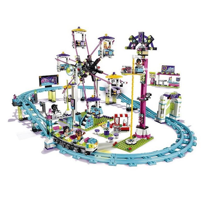 1024Pcs Compatible With Building Block Brick Friends 4113 Amusement Park Roller Coaster Figure Model Building Toys