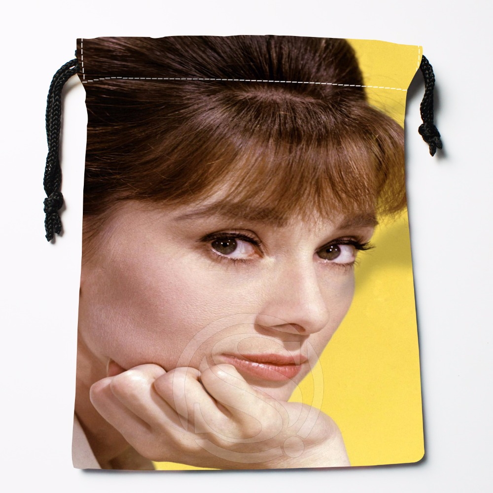 Fl-Q1 New Audrey Hepburn Custom Logo Printed  Receive Bag  Bag Compression Type Drawstring Bags Size 18X22cm 71-81#f1