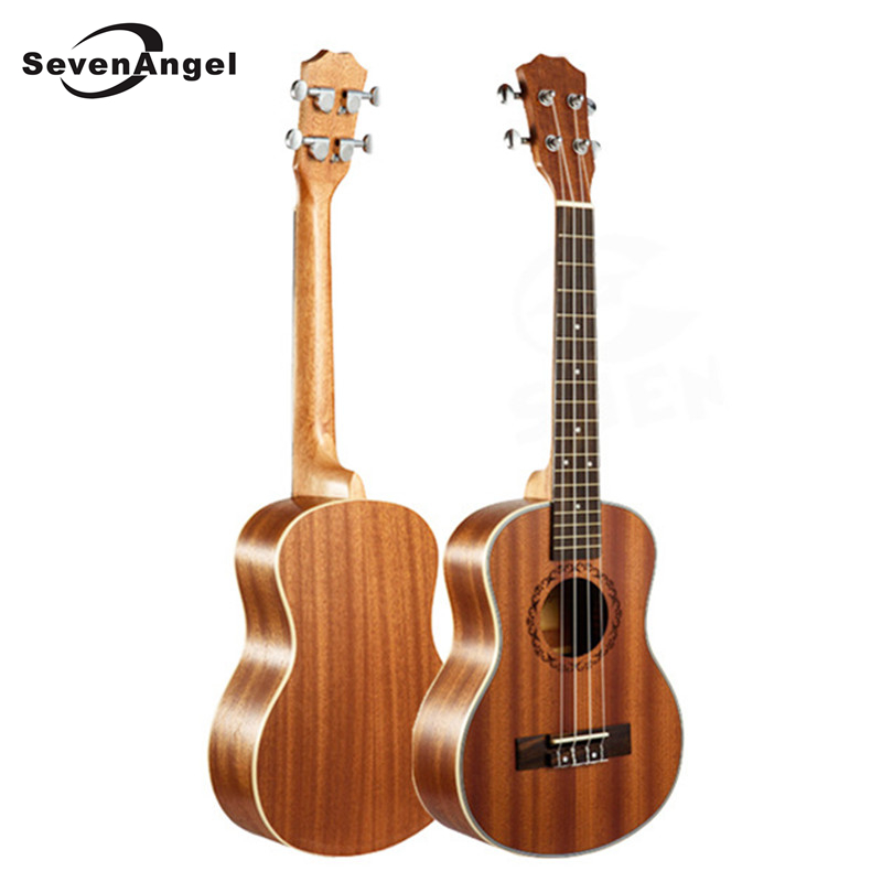 SevenAngel 21 Ukulele Hawaiian guitar Rosewood Fretboard 4 strings Mahogany Electric Ukulele with Pickup EQ  Music Instruments best price of the white lp standard electric guitar china with bigsby rosewood fretboard guitar free shipping