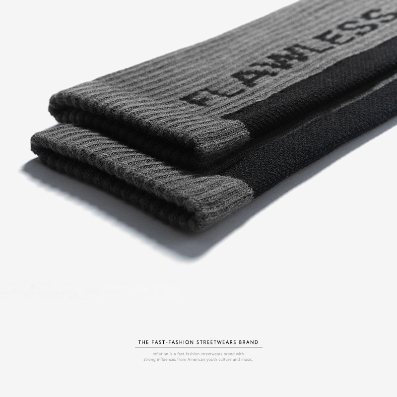 INFLATION 2018 männer frauen socken brief gedruckt socken hip hop streetwear ins casual Crew harajuku mode lange socken 921AI2018